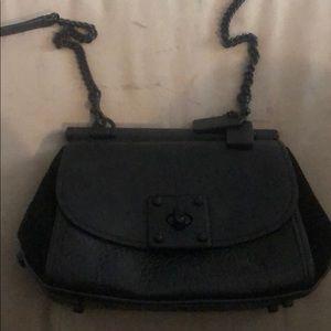 Black with black Hardware Coach drifter bag